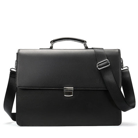 Leather 15 inch Business Laptop Briefcase