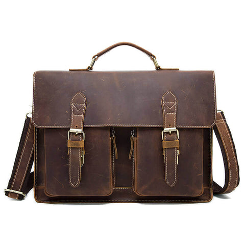 Crazy Horse 13 inch Laptop Briefcase Bag