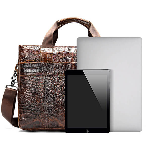 13 inch Leather Laptop Briefcase