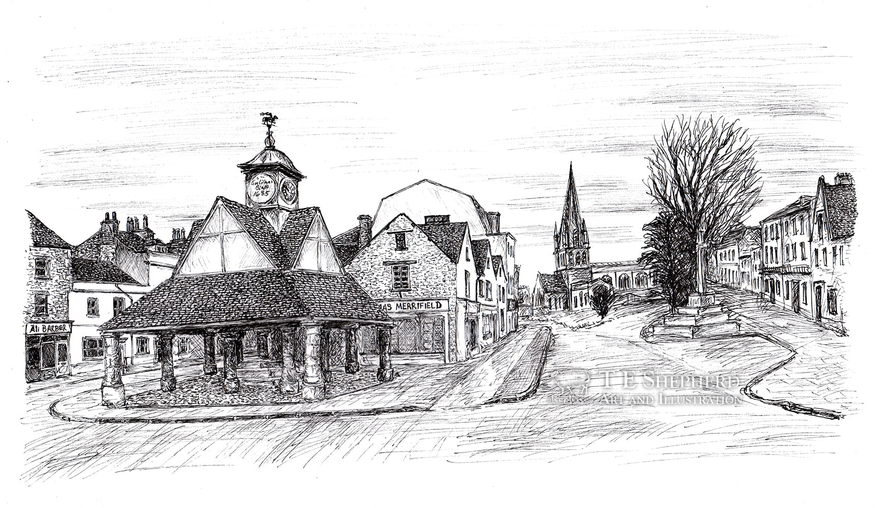 Butter Cross, Witney, Oxfordshire *Original*