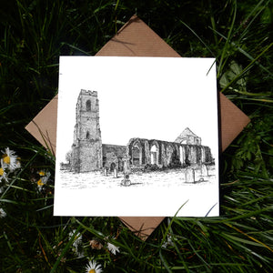 St Andrew's Church, Covehithe, Suffolk Greeting Card