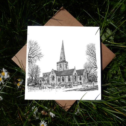 St Mary's Church, Kidlington, Oxfordshire Greeting Card