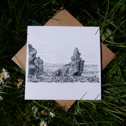 'Manstone Rock' Greeting Card
