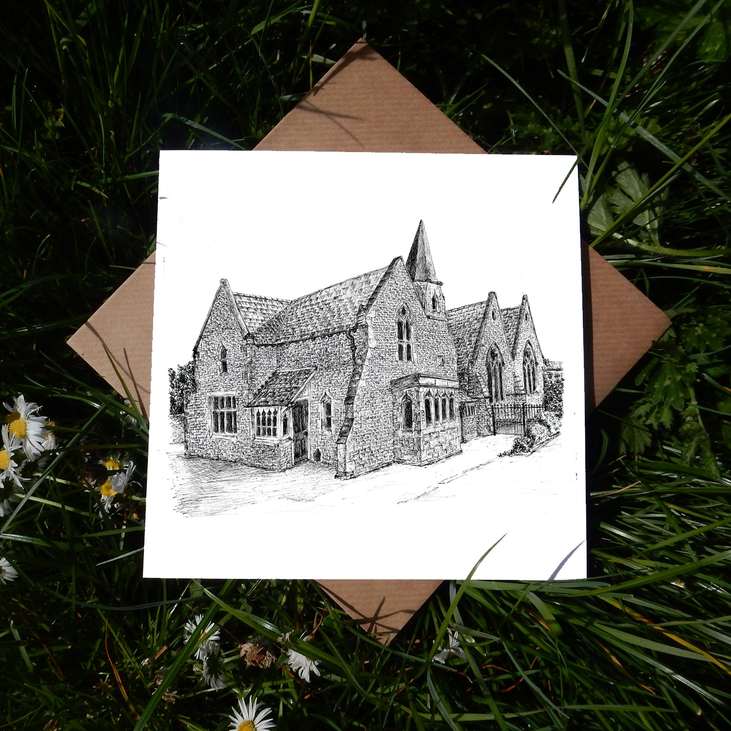 Old St Edburg's Primary School, Bicester Greeting Card