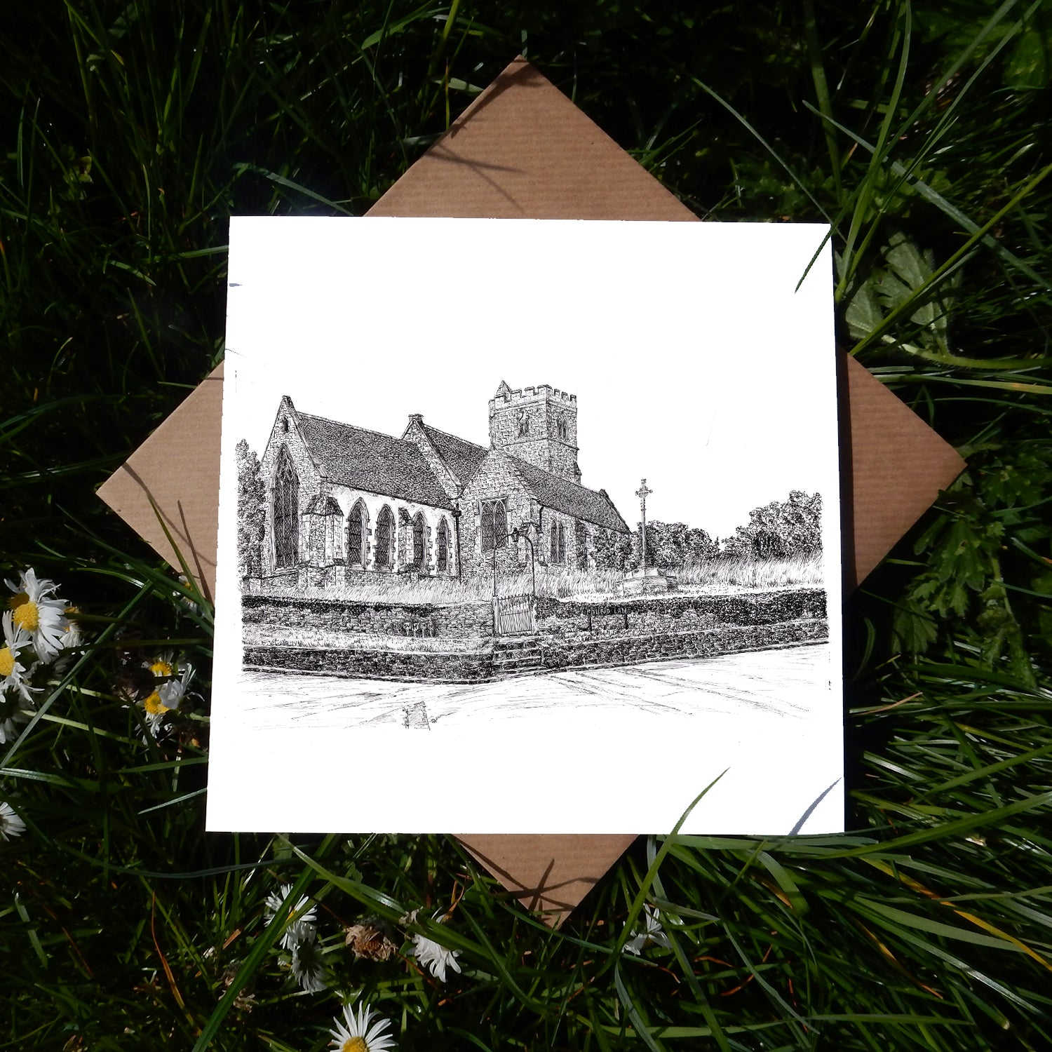 Stanton St John Civil Parish Church, Oxfordshire Greeting Card