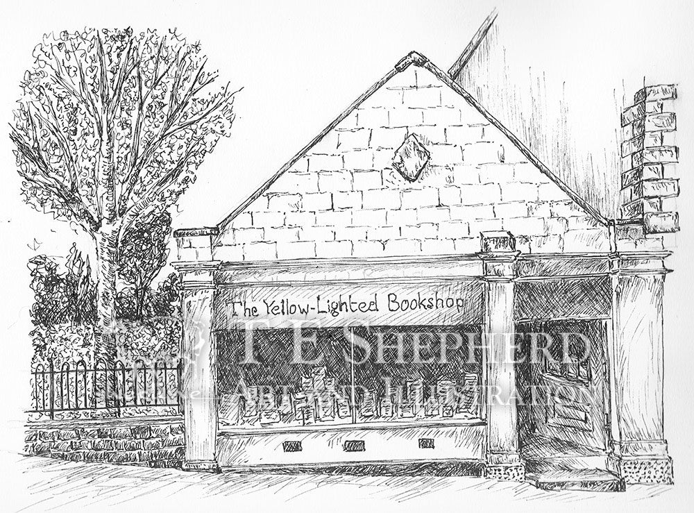 The Yellow-Lighted Bookshop, Nailsorth, Gloucestershire *Original*