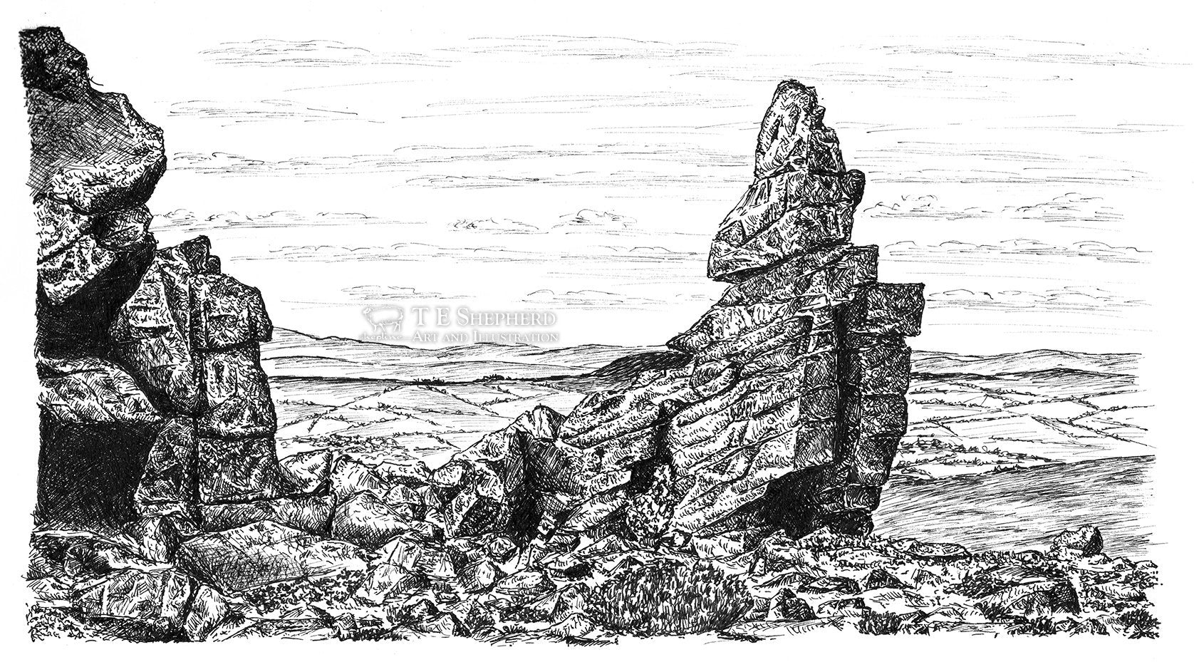 Manstone Rock, Stiperstones, Shropshire *Original*
