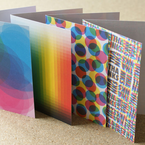CMYK Greetings Cards (Set of 4)