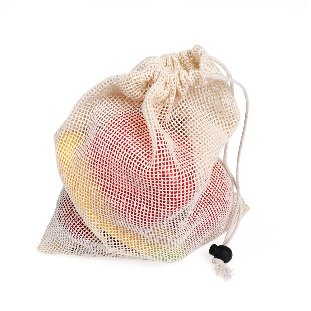 Reusable Cotton Mesh Vegetable Bag | Kitchen Supplies | Myleyna