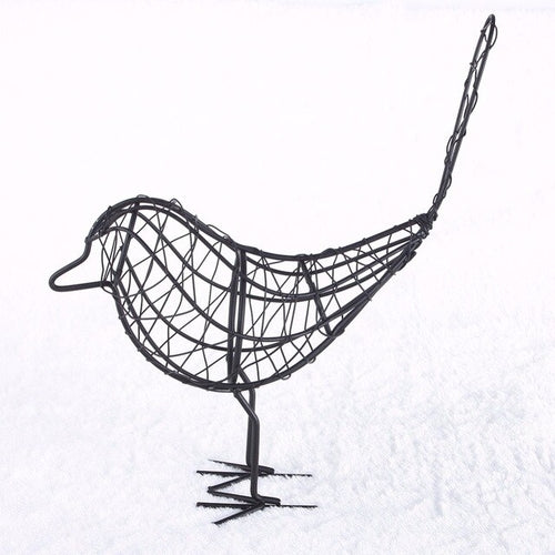 Iron Wire Bird Figurine | Home Decor | Myleyna