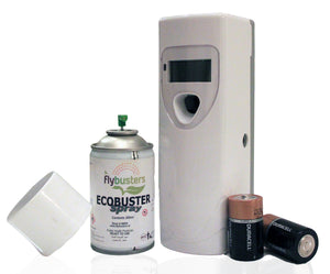 Flybusters Ecobuster Automatic LCD Full Set - Eliminates & Repels all types of insects for Indoors and Outdoors