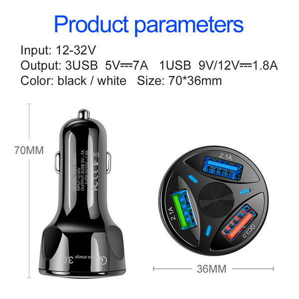 3- Ports Car Charger