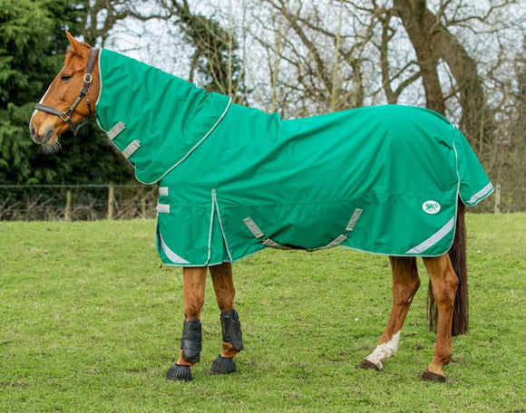 0g Detachable Neck Turnout Rug - Green - Swish Equestrian