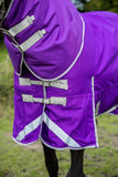 100g Detachable Neck Turnout Rug - Purple - Swish Equestrian