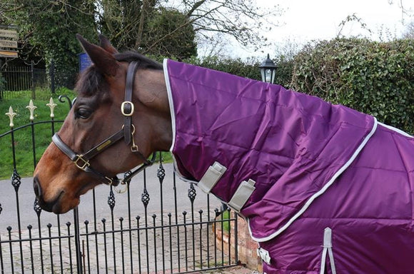 50g Purple Stable Rug Neck Cover - Swish Equestrian