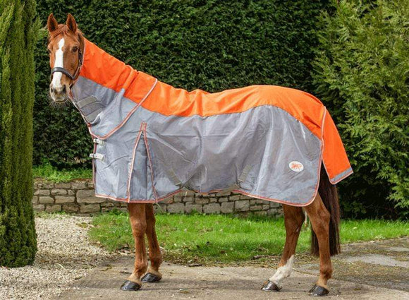 Fly Turnout Combination Rug - Orange - Swish Equestrian