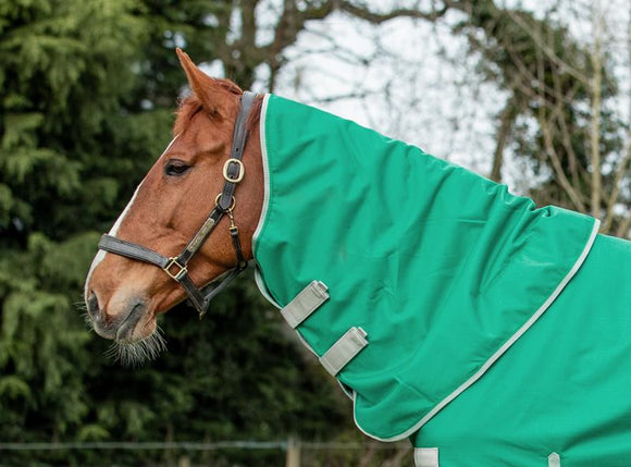 100g Green Turnout Rug Neck Cover - Swish Equestrian