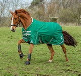 50g Detachable Neck Turnout Rug - Green - Swish Equestrian
