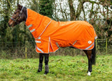 100g Detachable Neck Turnout Rug - Orange - Swish Equestrian