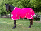 0g Detachable Neck Turnout Rug - Pink - Swish Equestrian