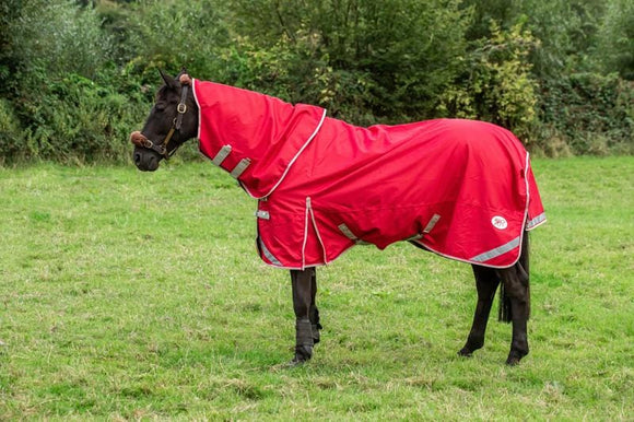 50g Detachable Neck Turnout Rug - Red - Swish Equestrian