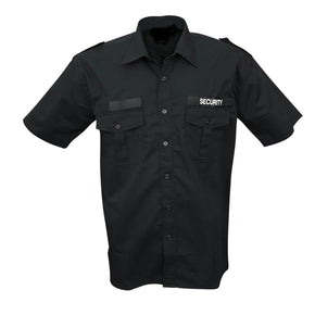 Black short-sleeved service shirt