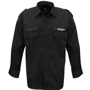 Black long-sleeved service shirt