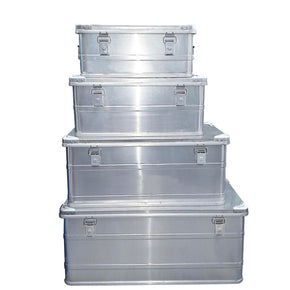 Aluminum transport boxes 4 'set