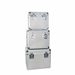 Aluminum transport boxes, set of 3