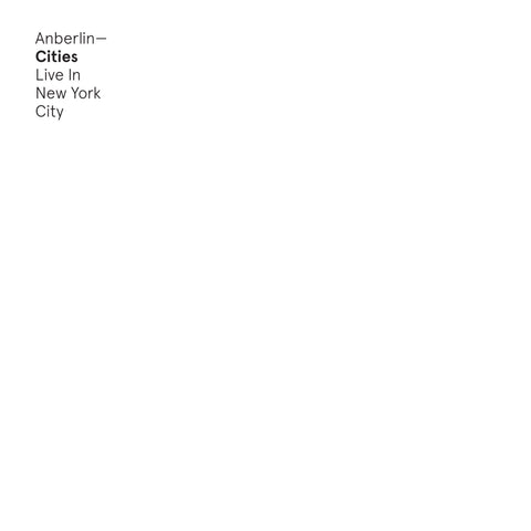 Anberlin 'Cities: Live In NYC' CD + MP3 Download