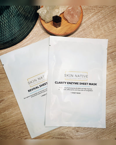 Duo Pack - Clarity Exfoliating Sheet Mask & Revival Sheet Mask - Flourish Skin and Beauty