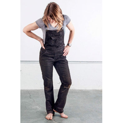 Women's Freshley Overall in Black Denim