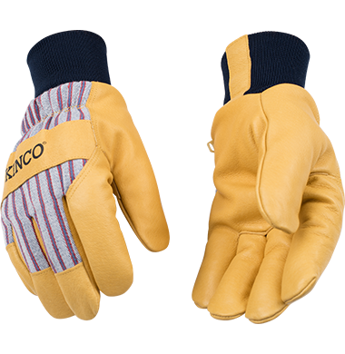 Lined Premium Grain Pigskin Gloves w/ Knit
