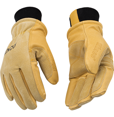 Lined Pigskin Ski Gloves