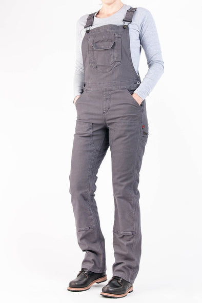 Women's Freshley Overall in Dark Grey Canvas