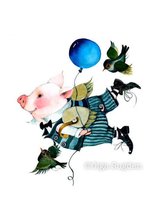 Flying Boy Pig