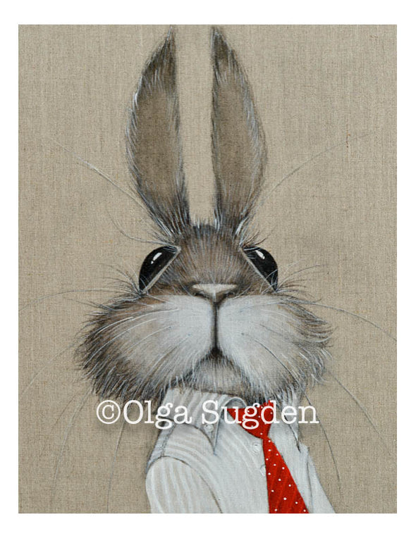 Boss Bunny Red Tie