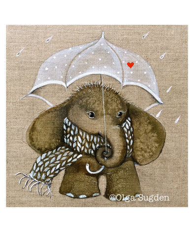 Rainy Day Elephant