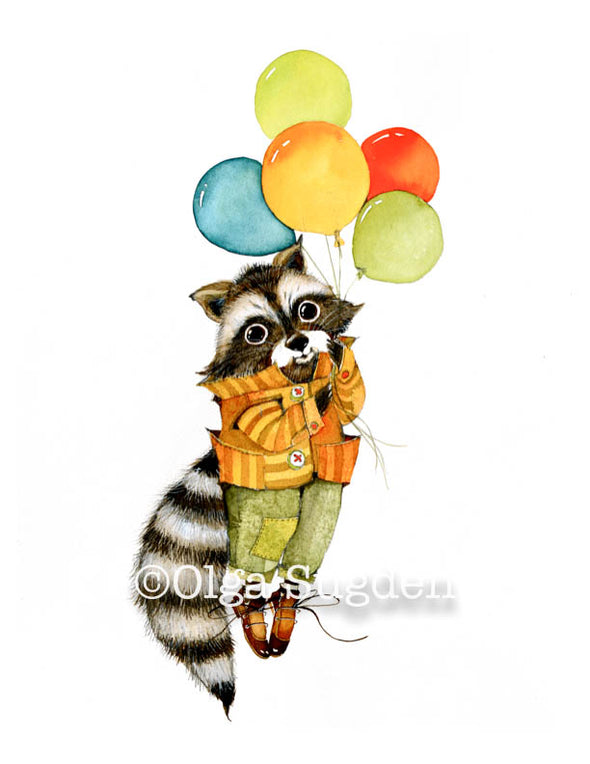 Balloon Raccoon