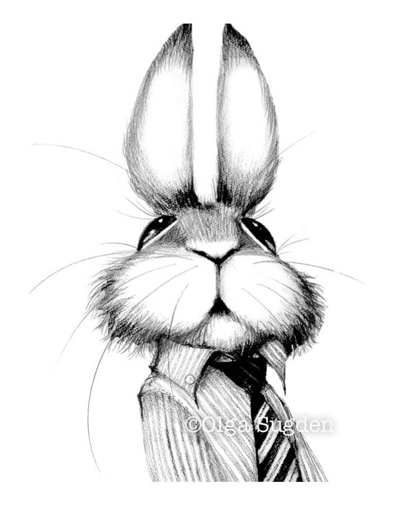 Boss Bunny Black and White