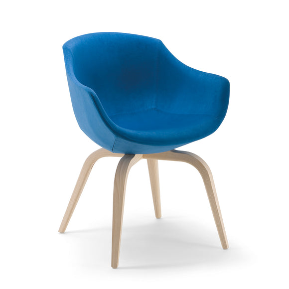 Biana Arm Chair - Wood Base