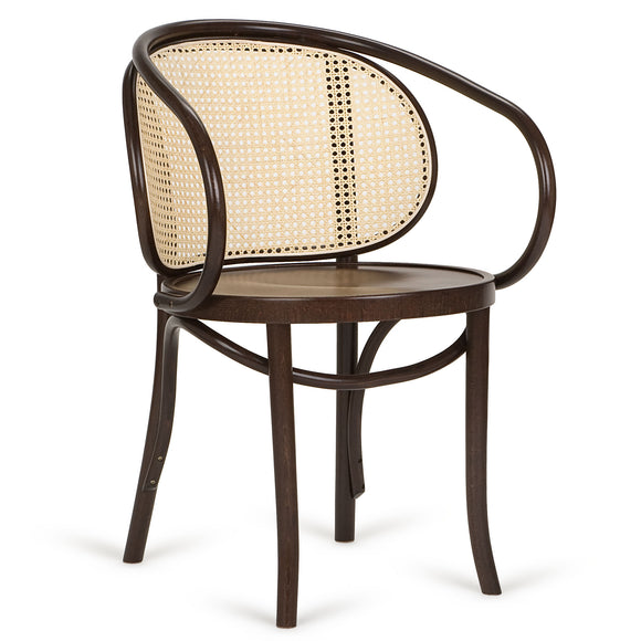 Miponi Cane Bentwood Arm Chair