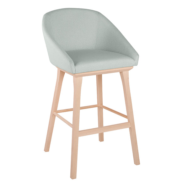 Night Upholstered Wood Stool v1