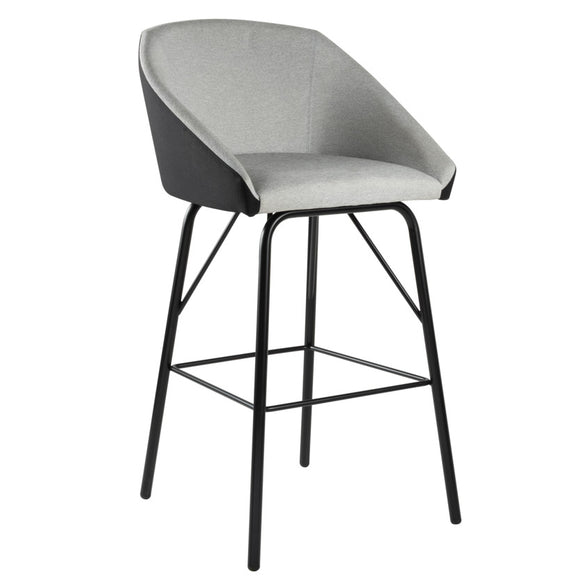 Night Upholstered Steel Stool