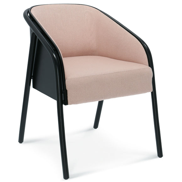 Noodle Bentwood Upholstered Arm Chair