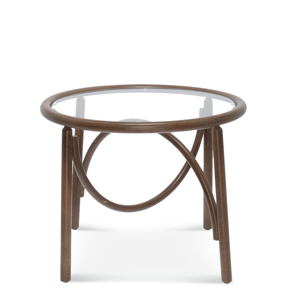 Noodle Bentwood Glass Top Coffee Table
