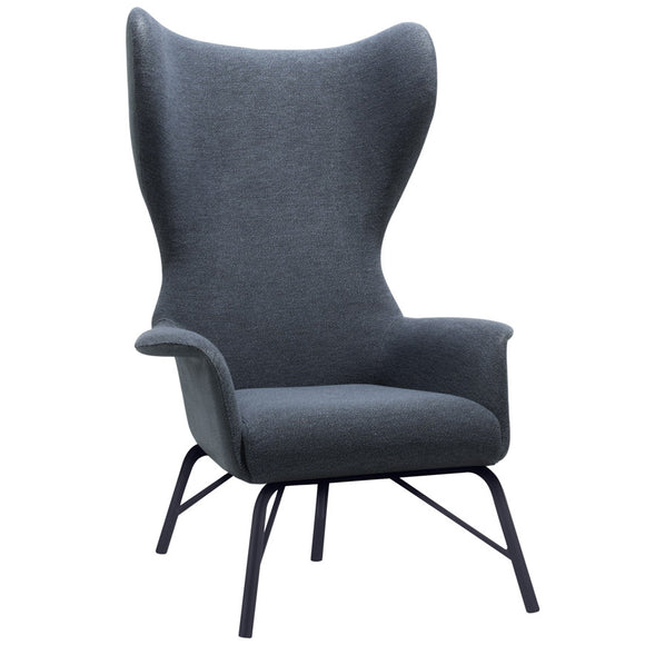 Pallas Wing Back Steel Lounge Chair