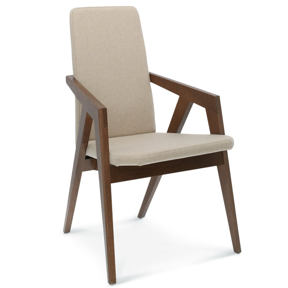 Rondack Upholstered Wood Arm Chair