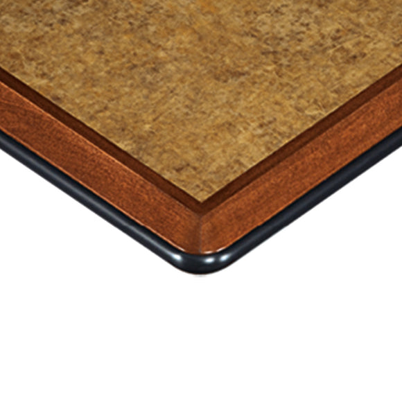 Sophia Laminate Inlay Wood Edge with Plastic Bumper Table Tops