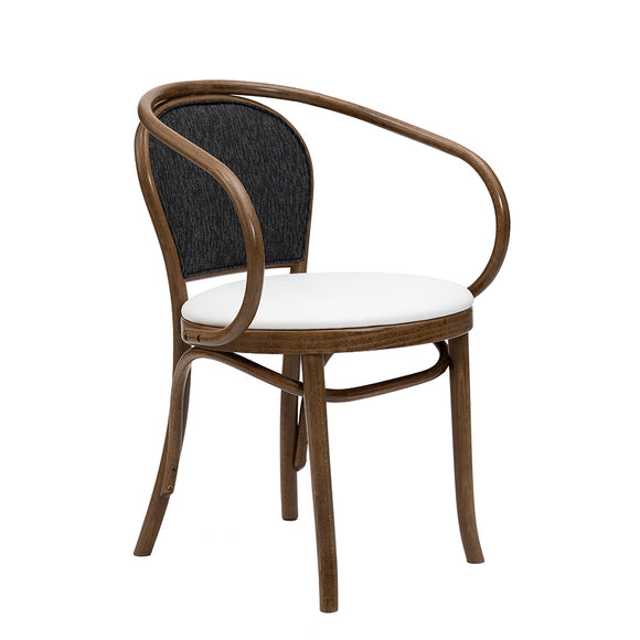 Miponi Upholstered Bentwood Arm Chair